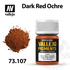 Vallejo Pigments - Dark Red Ochre 35ml - Val73107