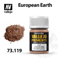 Vallejo Pigments - European Earth 35ml - Val73119