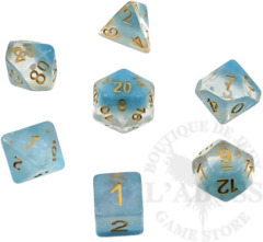 7 Polyhedral Abyss Dice Set Frozen - AD041