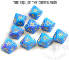 10 D10 Elder Dice - The Sigil of Dreamlands: Kadathian Ice (ED0-D11)