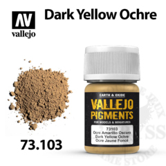 Vallejo Pigments - Dark Yellow Ochre 35ml - Val73103