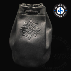 Premium Leather Dice Bag - Chaos Black Large