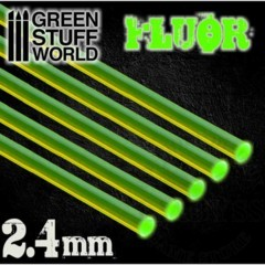GSW Acrylic Rods - Round 2.4mm Fluor Green (9252)