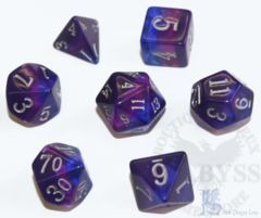 7 Polyhedral LD Birthday Dice Set December Tanzanite - LD-BDTAN3
