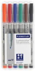 Staedtler Lumocolour Medium Wet-Erase Pens (6) - Mat Marker Set CHX 03156