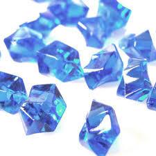 20 Acrylic Crystals - Blue