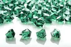 20 Acrylic Crystals - Green