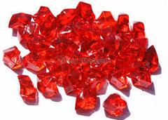 20 Acrylic Crystals - Red