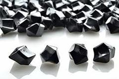 20 Acrylic Crystals - Black