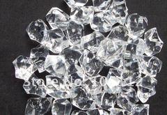 20 Acrylic Crystals - White