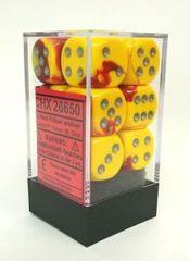 CHX 26650 Gemini Red-Yellow w/Silver 16mm D6 (12)