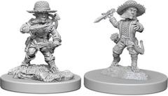 Pathfinder Battles Deep Cuts Unpainted Miniatures - Halfling Male Rogue