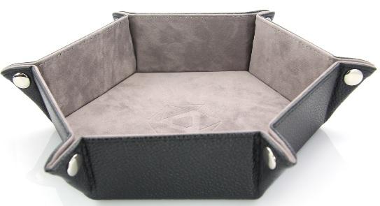 Die Hard Dice Portable Dice Tray Gray Hex