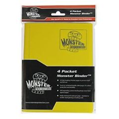 4 Pocket Monster Binder (Matte Yellow)