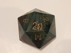 Dwarven Stones d20 35mm Bloodstone