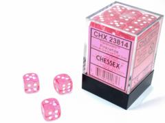 TRANSLUCENT 36D6 PINK/WHITE 12MM CHX 23814