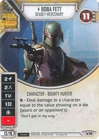 Boba Fett - Deadly Mercenary (with 2 dice)