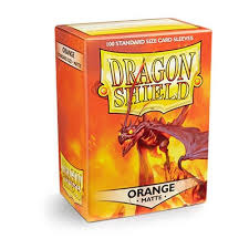 Dragon Shield Matte Orange Card Sleeves 100 Count