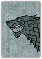 A Game of Thrones House Stark Card Sleeves 50 Count