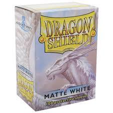 100 Count Matte White Standard Sized Dragon Shield Sleeves