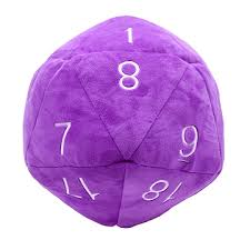 Purple D20 Novelty Plush