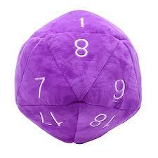 Purple D20 Novelty Plush