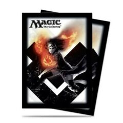 MTG 80 Count Standard Sleeves Black and White Chandra