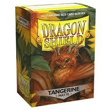 100 Count Standard Sized Dragon Shield Card Sleeves Tangerine