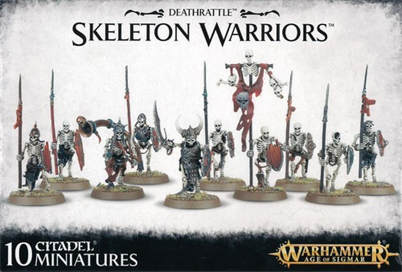 Age of Sigmar Deathrattle Skeleton Warriors
