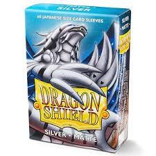 Dragon Shield Silver Matte 60 Count Japanese Size Sleeves