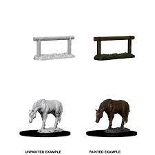 Wizkids Deep Cuts Horse & Hitch HD Primed Miniatures