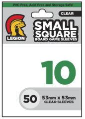 Legion #10 Small Square Board Game Card Sleeves Clear 50 Count