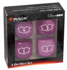 UP Black Loyalty Counter Set of 4 22mm D6's