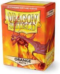 Dragon Shield: Standard Matte Orange (100ct) Sleeves