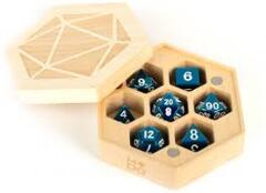 MDG Wood Hexagon Dice Case Maple Wood