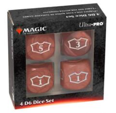 UP Red Loyalty Counter Set of 4 22mm D6's