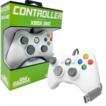 Old Skool: XBox 360 Wired USB Controller for PC & Xbox 360 - White (OS-2307)