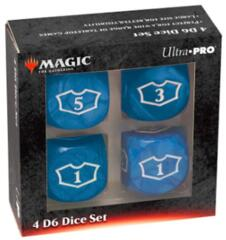 UP Blue Loyalty Counter Set of 4 22mm D6's