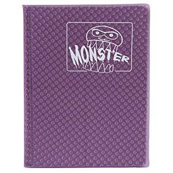 MOnster Album: 4 Pocket Holofoil Purple