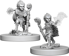 Pathfinder Deep Cuts Unpainted Miniatures: Gnome Male Druid