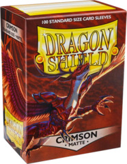 Dragon Shield 100 Count: Crimson Matte