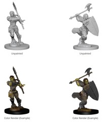Pathfinder: Deep Cuts Unpainted Miniatures - Half Orc Female Barbarian
