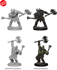 Pathfinder: Deep Cuts Unpainted Miniatures - Half Orc Male Barbarian