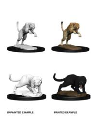 Nolzur's Marvelous Miniatures Panther and Leopard