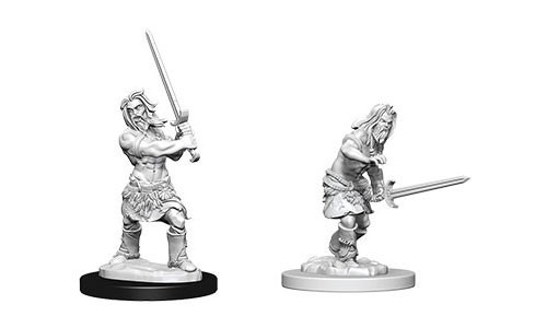Deep Cuts Unpainted Miniatures - Male Human Barbarian