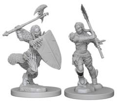 Pathfinder Deep Cuts Unpainted Miniatures: Female Human Barbarian