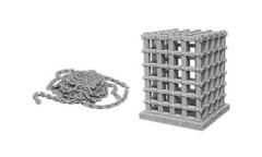 Deep Cuts Unpainted Miniatures - Cage & Chains