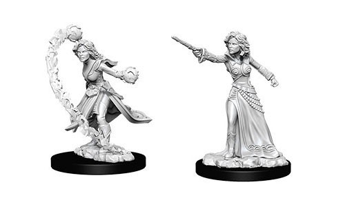 Deep Cuts Unpainted Miniatures - Female Human Wizard