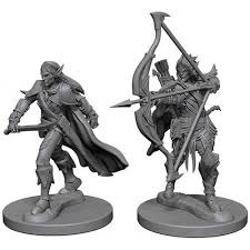 Deep Cuts Unpainted Miniatures - Male Elf Fighters