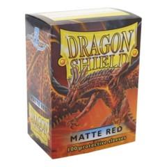Dragon Shield Sleeves 100ct Matt Red